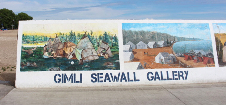 Gimli Seawall Gallery in Gimli, Manitoba, photo by Destinations, Detours and Dreams