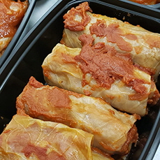 Cabbage rolls from Blueberry Kitchen, Rocanville, Saskatchewan