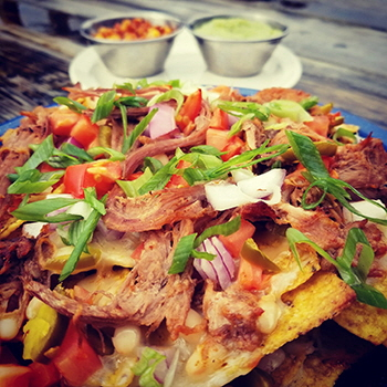 Pulled pork nachos at the Wildcat Cafe, Yellowknife, NT