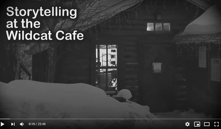 Storytelling at the Wildcat Cafe, Yellowknife, NT