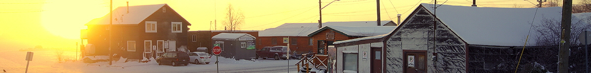 Old Town Yellowknife, Northwest Territories  |  Photo: Mike Tidd, Wikimedia Commons
